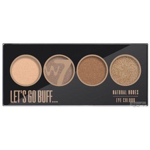 - let's go buff - natural nudes eye colour palette - paleta 4 cieni do powiek marki W7