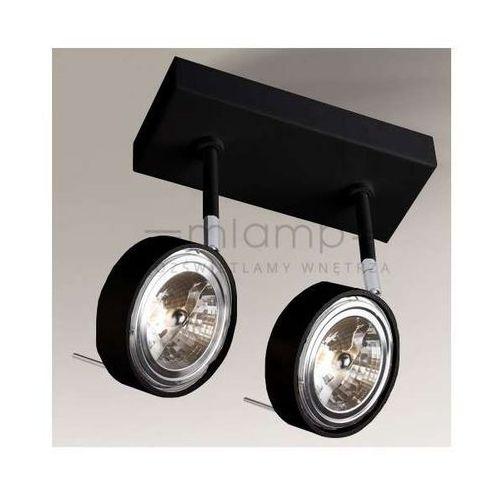Shilo Plafon lampa sufitowa fussa 2219/g53/cz metalowa oprawa reflektorowa spot regulowany czarny