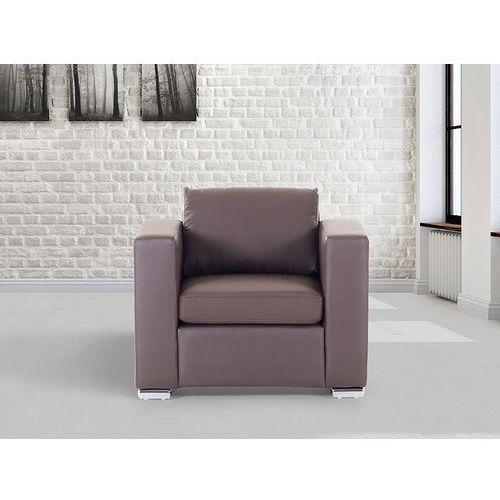 Skórzany fotel brązowy - sofa - HELSINKI