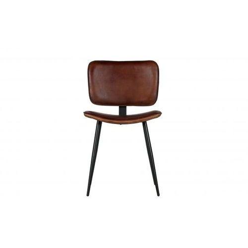 Be Pure Krzesło do jadalni Range skórzane koniakowe 800760-C, 800760-C