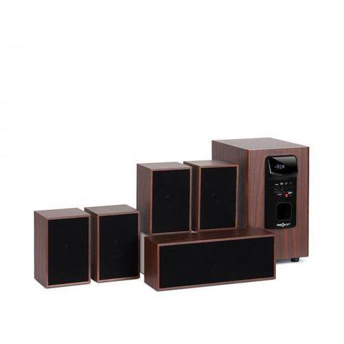 OneConcept Woodpecker System audio 5.1 moc wyjściowa 45 W RMS imitacja drewna (4060656106590)