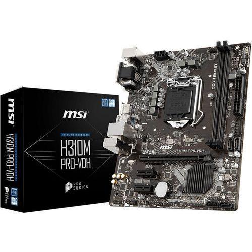 Płyta główna MSI H310M PRO-VDH ( LGA 1151; 2x DDR4 DIMM; Mini ATX; Nie ) (4719072562922)