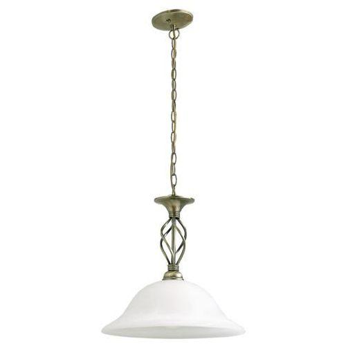 Rabalux Lampa wisząca beckworth 1x60w e27 brąz/biały 7136 (5998250371368)
