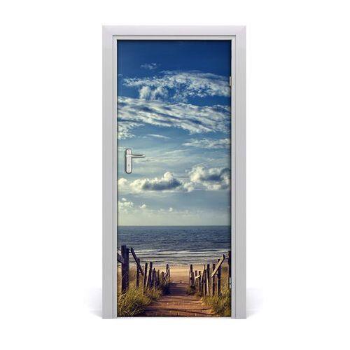 Naklejka na drzwi samoprzylepna ścieżka na plażę marki Tulup.pl