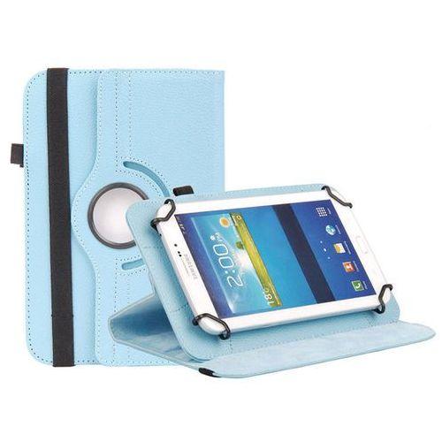 Uniwersalne etui obrotowe niebieskie do tabletów 8 cali - niebieski marki 4kom.pl