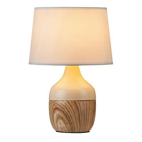 Rabalux Lampa lampka stołowa yvette 1x40w e14 beżowy/biały 4370 (5998250343709)