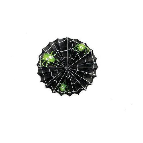 Dekoracja wisząca sieć pająka na halloween - 31 cm - 1 szt. p marki Unique