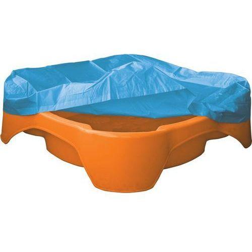 Marian Plast Piaskownica - basen z plandeką, kwadratowa, pomarańczowa (8595105737811)