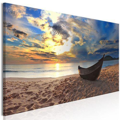 Artgeist Obraz - łódka na plaży (1-częściowy) wąski