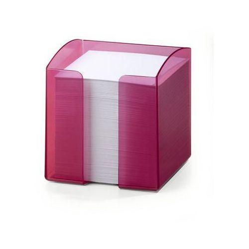 Pojemnik na karteczki trend 1701682 przezroczysty różowy marki Durable