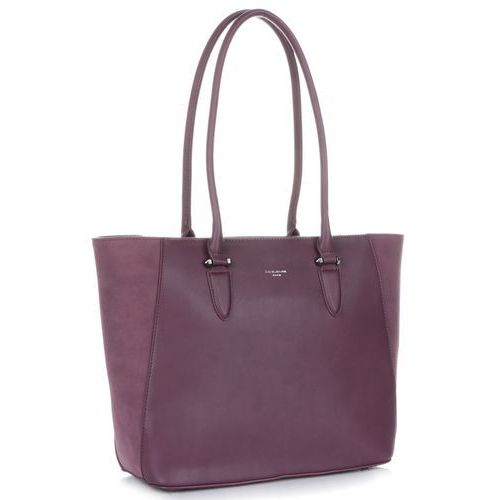 David jones Pojemne torebki damskie ze skóry ekologicznej śliwkowe (kolory)