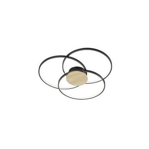 Trio sedona 673210332 plafon lampa sufitowa 1x40w led 3000k czarny mat / brązowy (4017807441192)