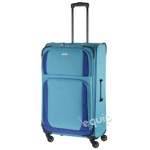 Walizka duża paklite rocco - turkusowy/niebieski marki Travelite