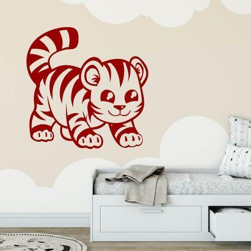 Wally - piękno dekoracji Naklejka welur dla dzieci tygrysek 2406