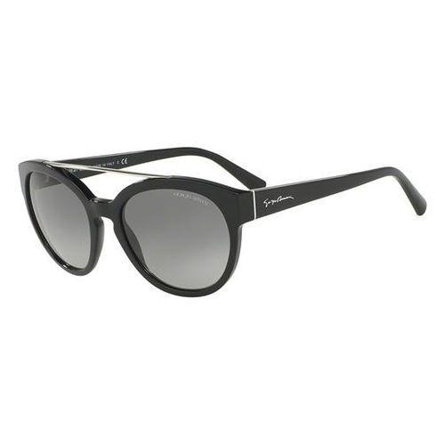 Okulary Słoneczne Giorgio Armani AR8086F Asian Fit 501711, kolor żółty