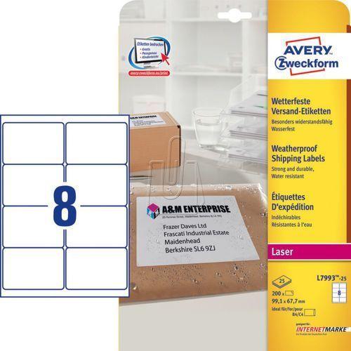 Etykiety wysyłkowe Avery Zweckform odporne na pogodę 99,1 x 67,7mm 25 ark./op. L, 87760