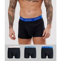 Calvin Klein Modern Cotton 3 pack trunks in black Exclusive at ASOS - Black, kolor czarny