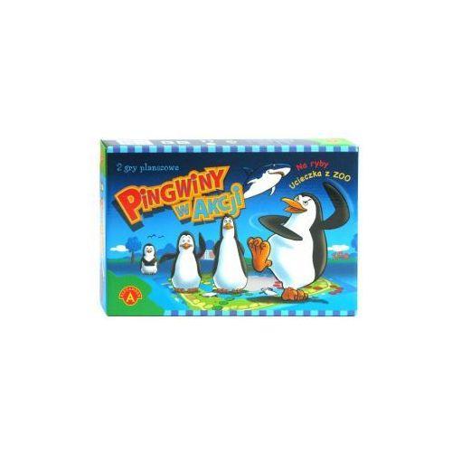 Pingwiny w akcji. 2 gry planszowe marki Alexander