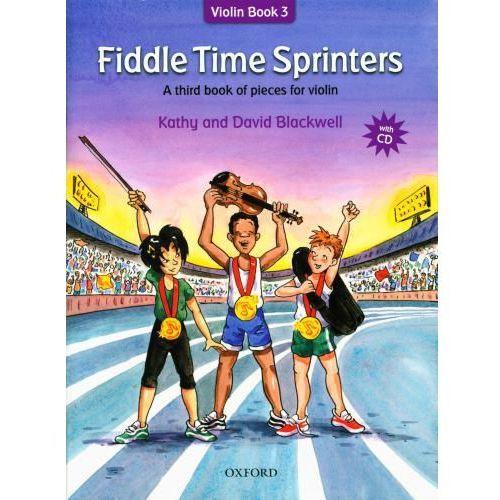 blackwell kathy, david - fiddle time sprinters. violin book 3 (utwory na skrzypce + cd)-nowe wydanie marki Pwm