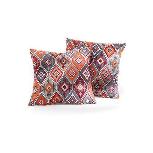 Narzuta na sofę w etniczny deseń czerwony marki Bonprix