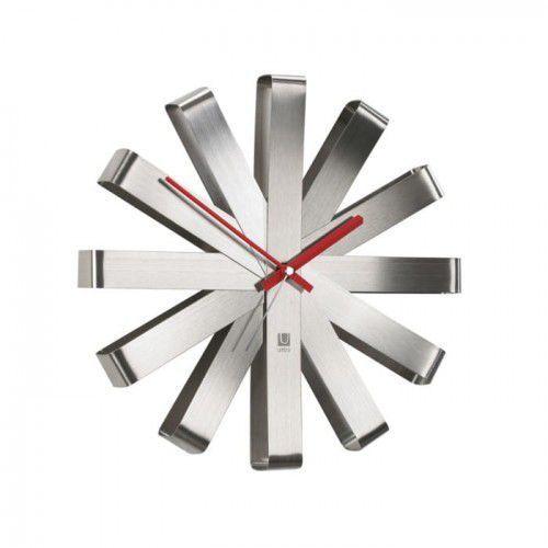 Umbra Zegar ścienny stalowy ribbon