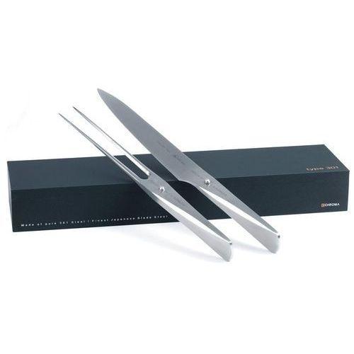 Nóż i widelec do mięs Type 301 w zestawie, P517