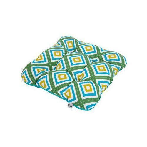 Poduszka na siedzisko 38 x 38 x 8 cm ellen turkusowa marki Patio
