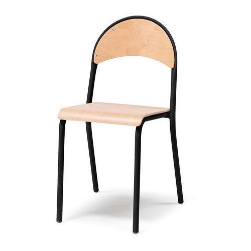 Krzesło do stołówek Stelaż Czarny, 123561