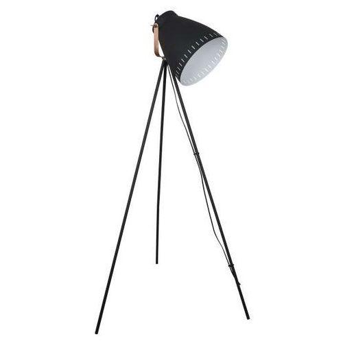Sztalugowa LAMPA podłogowa FRANKLIN ML-HN3068-B+RC Italux industrialna OPRAWA stojąca na trójnogu reflektor loft czarny