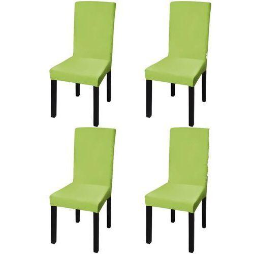 Vidaxl elastyczne pokrowce na krzesła, 4 szt., zielone (8718475978817)