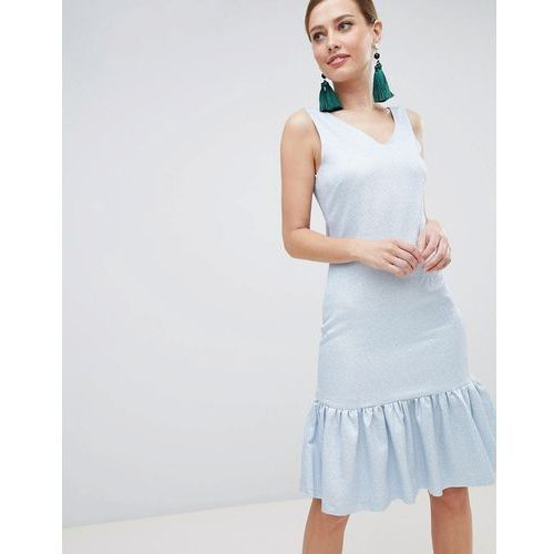Closet London Drop Hem Sleeveless Dress - Blue, kolor niebieski