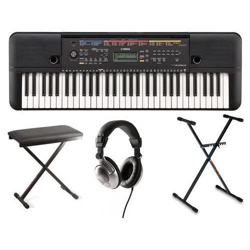 Yamaha Zestaw  psr-e263 keyboard do nauki gry