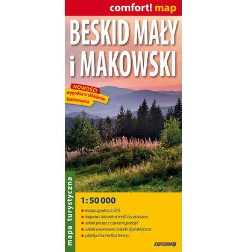 Mapa Beskid Mały i Makowski