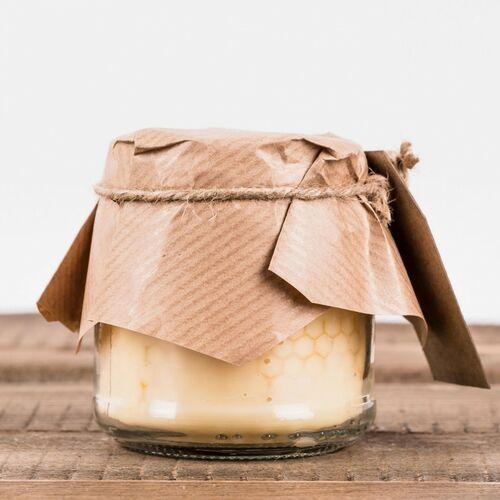 Łysoń Świeca woskowa w szkle domowe przetwory z węzą (75 mm / 60 mm) (5907804205677)