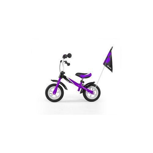 Milly-mally Rowerek biegowy dragon deluxe z hamulcem fioletowy #b1 (5901761120974)