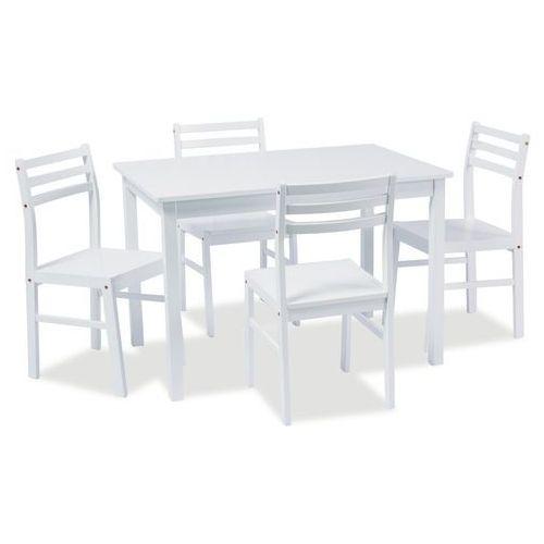 Zestaw mebli TROMSO 4+1 white - sprawdź w wybranym sklepie