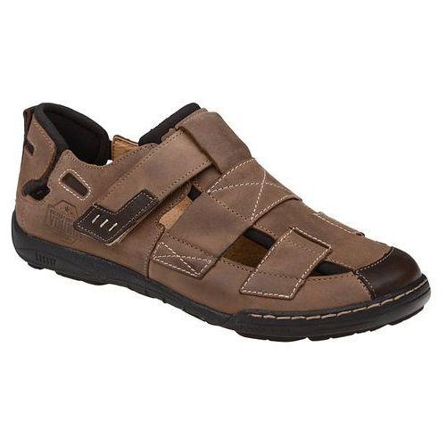 Półbuty sandały 1-4213-372 beż+brąz - beżowy ||brązowy marki Kacper