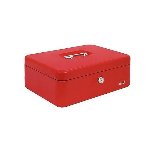 Kasetka na pieniądze EAGLE 8878L czerwona 100x300x217mm