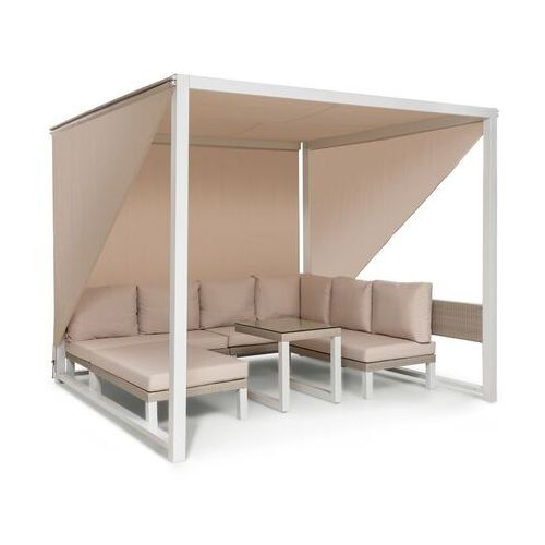 Blumfeldt havanna, pawilon/zestaw wypoczynkowy, 270 x 230 x 270 cm, cztery 2-osobowe kanapy, biały (4060656226830)