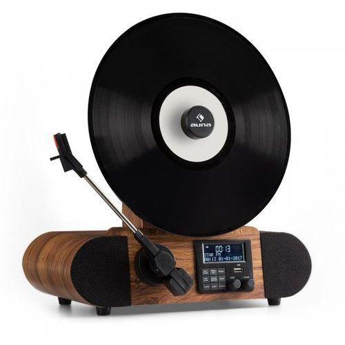 Auna Verticalo gramofon dab retro dab+ tuner fm usb bt aux budzik