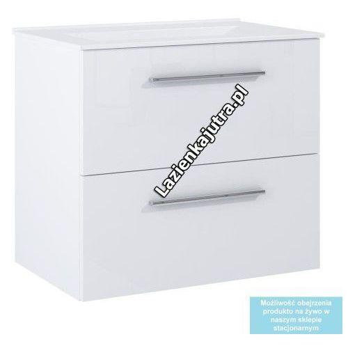 DEFTRANS SILESIA / METRO Zestaw łazienkowy szafka + umywalka 60, biały połysk