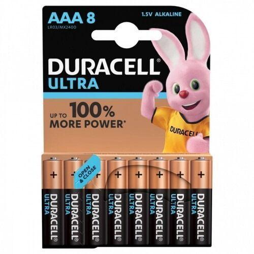 Duracell Baterie ultra power aaa 8szt. (5000394063488)