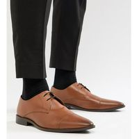Frank Wright Wide Fit Toe Cap Derby Shoes In Tan Leather - Tan