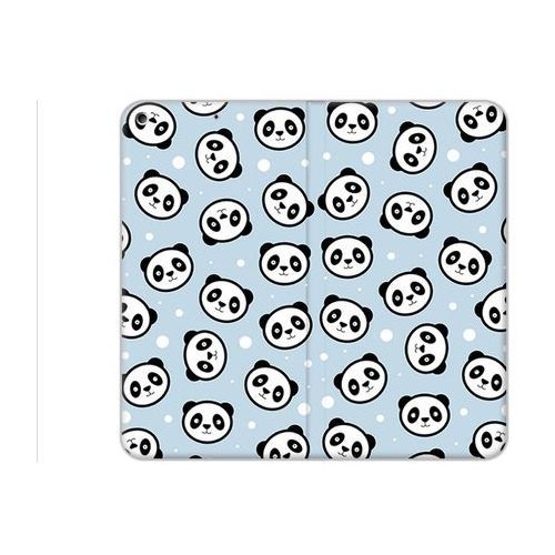 Etuo flex book fantastic - apple ipad (2017) - etui na tablet flex book fantastic - panda na niebieskim tle marki Etuo.pl