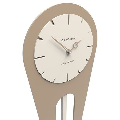 Zegar ścienny z wahadłem Sally CalleaDesign oliwkowo-zielony (11-001-54), kolor zielony