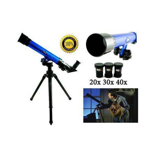 Malplay Edukacyjny teleskop astronomiczny + statyw + wymienne okulary (20x, 30x, 40x).