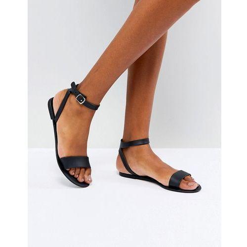 ASOS FELINA Jelly Flat Sandals - Black, kolor czarny