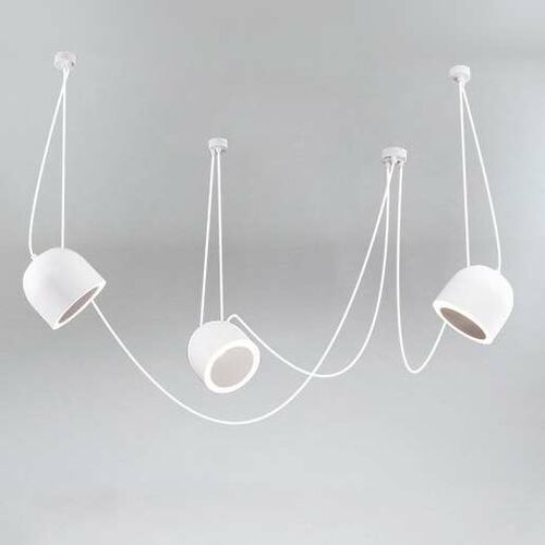 LAMPA wisząca DOBO 9037/E14/BI/kolor Shilo metalowa OPRAWA modernistyczny zwis (5903689994330)