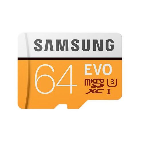 Samsung 64GB, MicroSDXC EVO 64GB MicroSDXC UHS-I Klasa 10 pamięć flash (8806088676517)