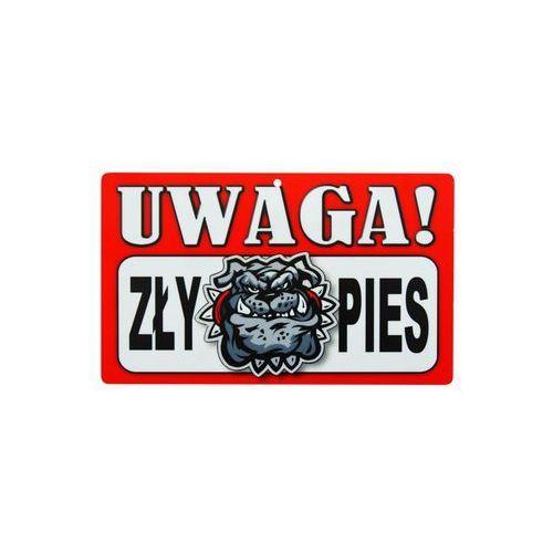Znak informacyjny UWAGA! ZŁY PIES 12 x 20 cm (5901986773924)
